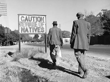 Caution_beware_of_natives South Africa apartheid